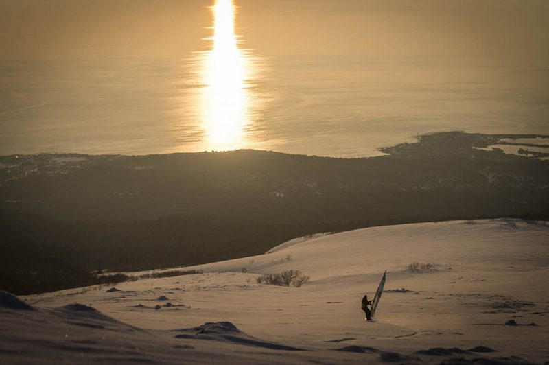 Levi Siver am Berg Rishiri in Hokkaido Japan