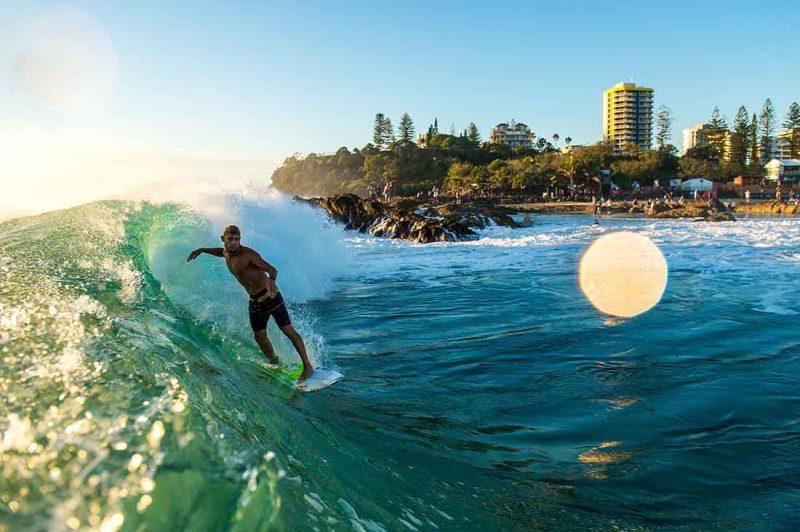 Mick Fanning in Coolangatta Australien