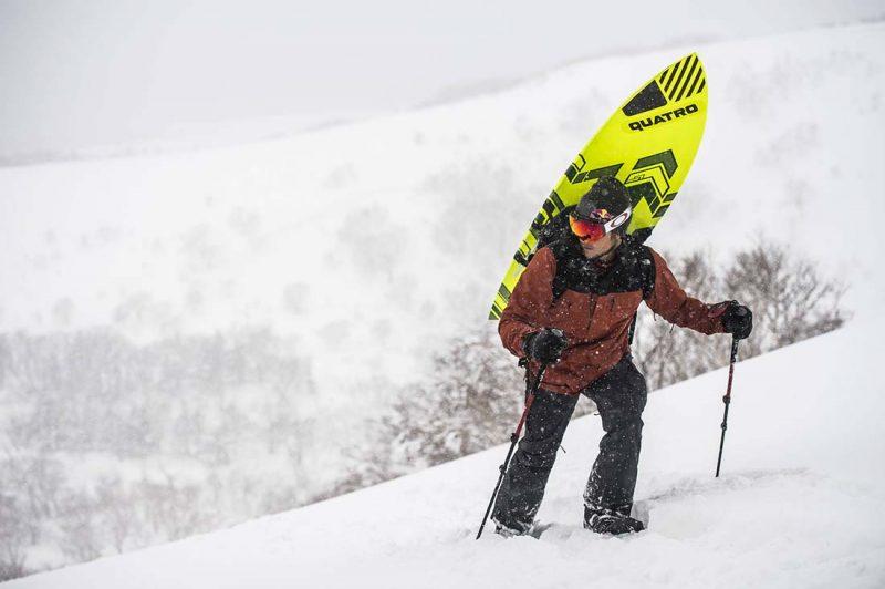 Levi Siver am Weg auf den Berg Rishiri