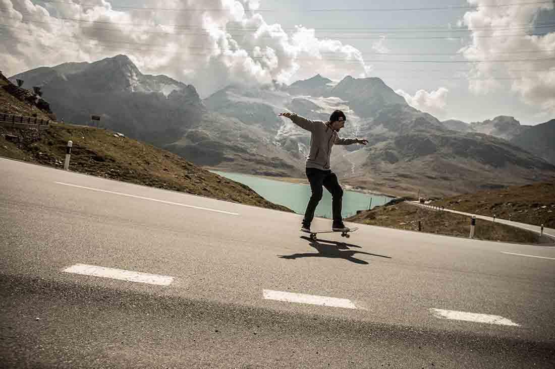 Simon Stricker am Bernina Pass,