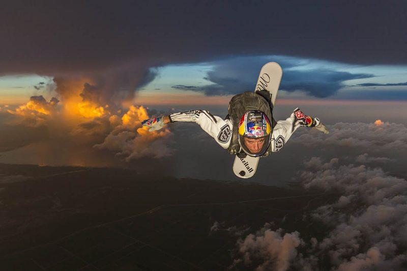Sean MacCormac, skysurfen im Gewitter