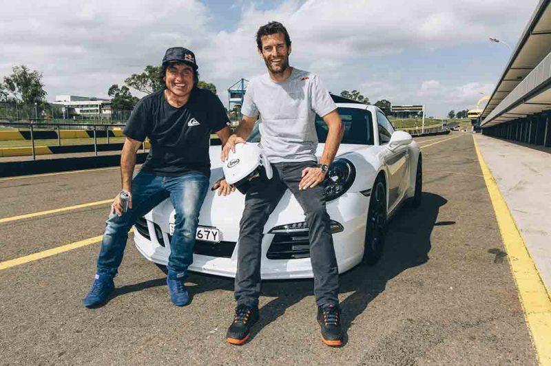 Ross Clarke Jones und Mark Webber am Sydney Motorsport Park Eastern Creek in Australien