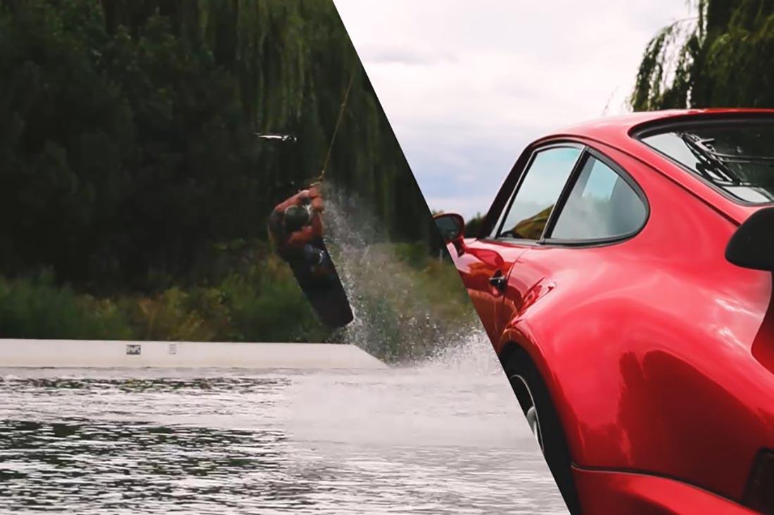 Video Perfect Ride mit dem Porsche 911 Turbo zum Wakeboarden