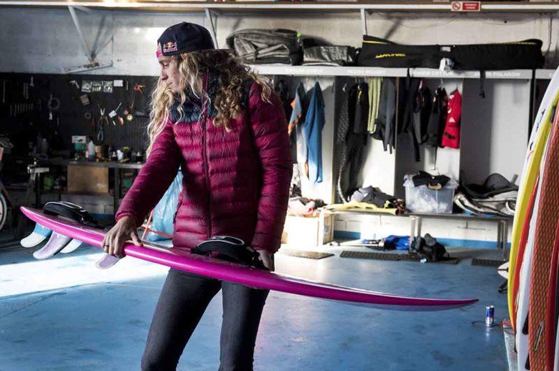Justine Dupont und ihr Board